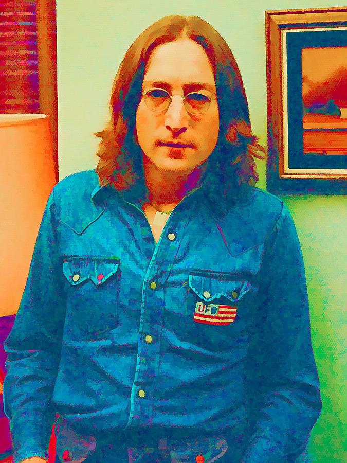 John Lennon 1975 Digital Art