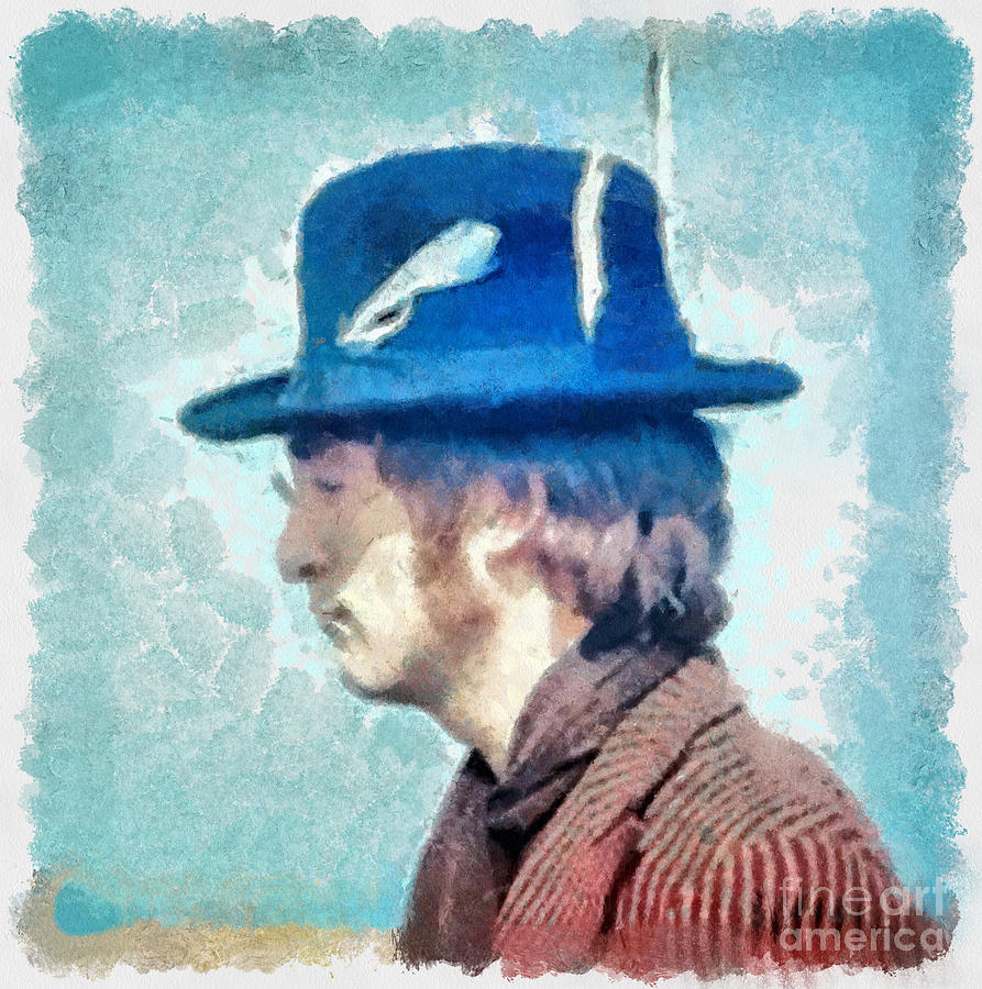 John Lennon - Feathers In His Hat Photograph