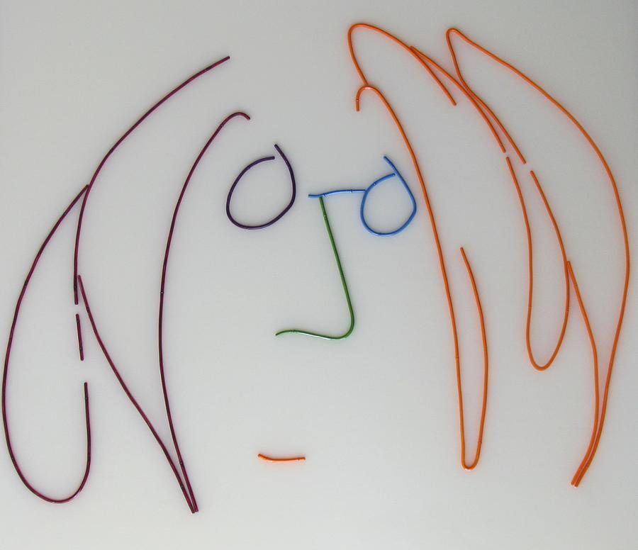 John Lennon Imagine By Peter Virgancz Mixed Media