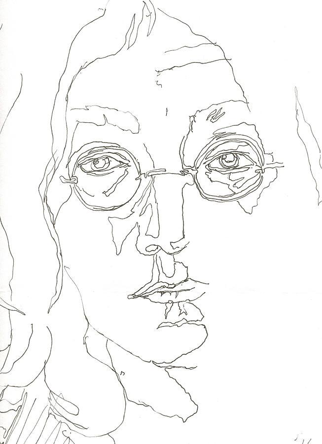 Line Drawing John Lennon : John lennon by nell stockdall