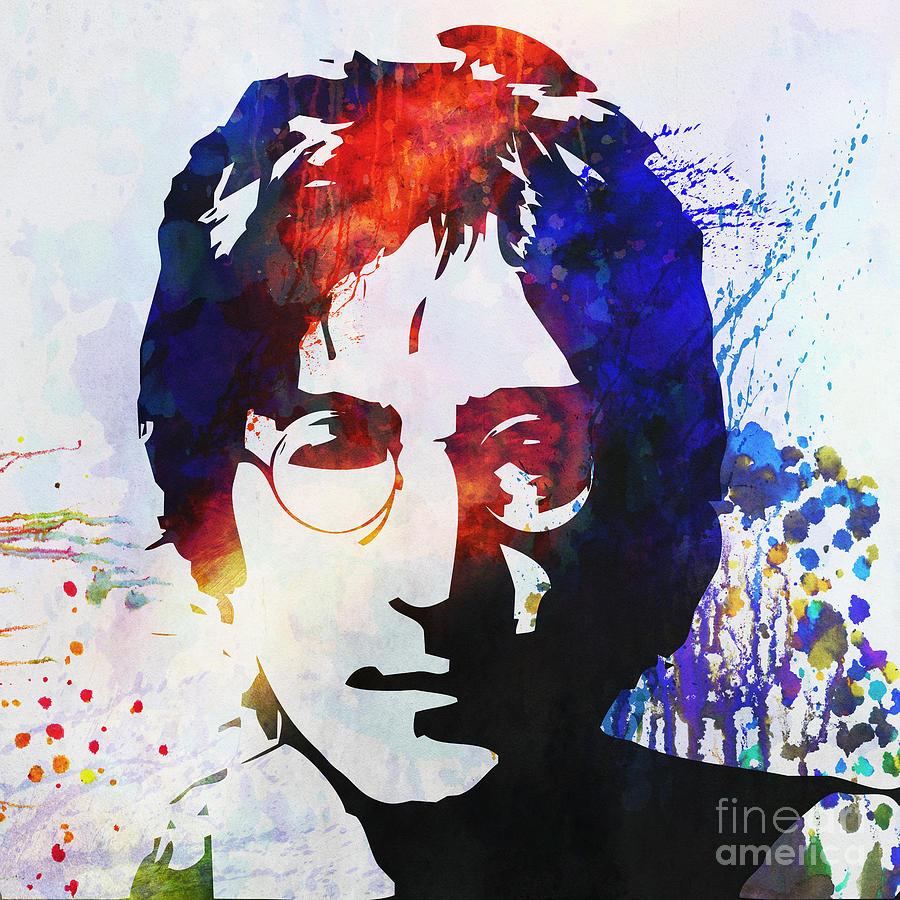 John Lennon Stencil Portrait Painting