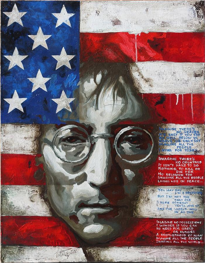 John Lennon -the Man Of Peace Painting