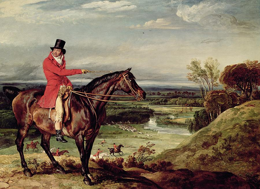 John Levett Hunting In The Park At Wychnor Painting