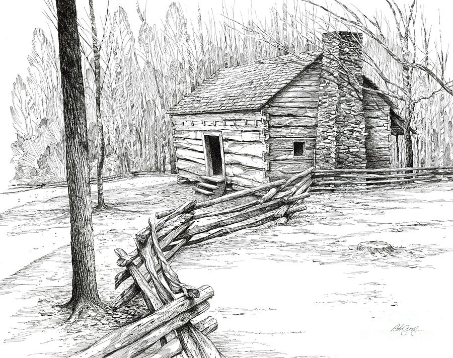 john ownby cabin drawing by bob george