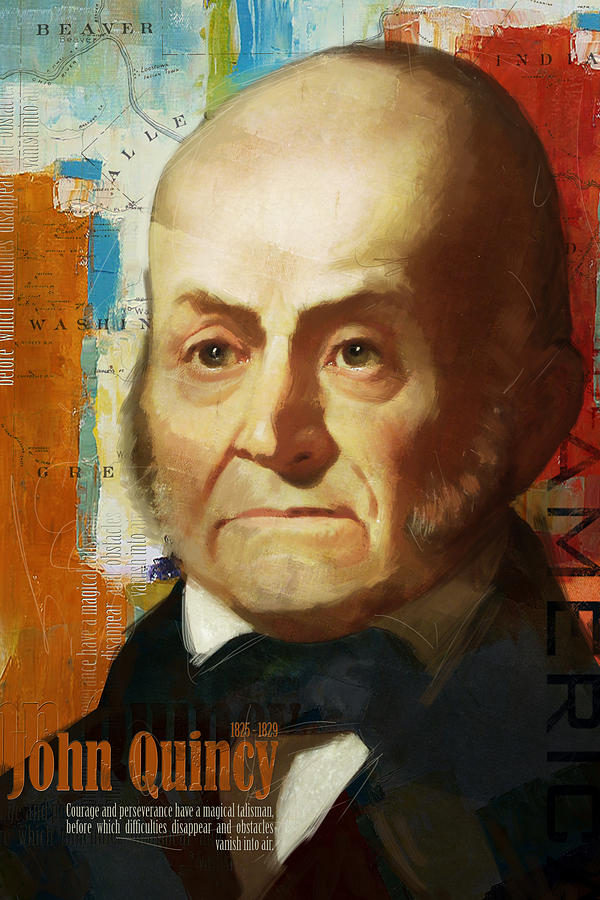 John Quincy Painting - John Quincy Adams by Corporate Art Task Force
