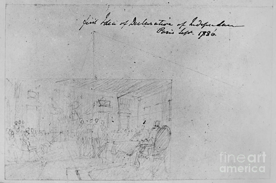 John Trumbull Sketch Drawing