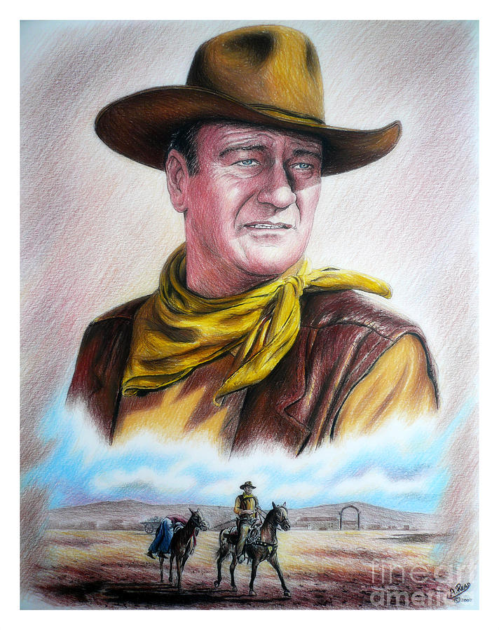 John Wayne Captured Painting  - John Wayne Captured Fine Art Print