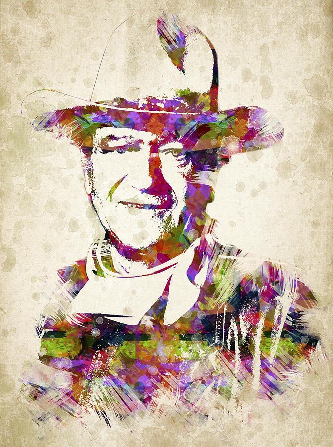 John Wayne Portrait Drawing