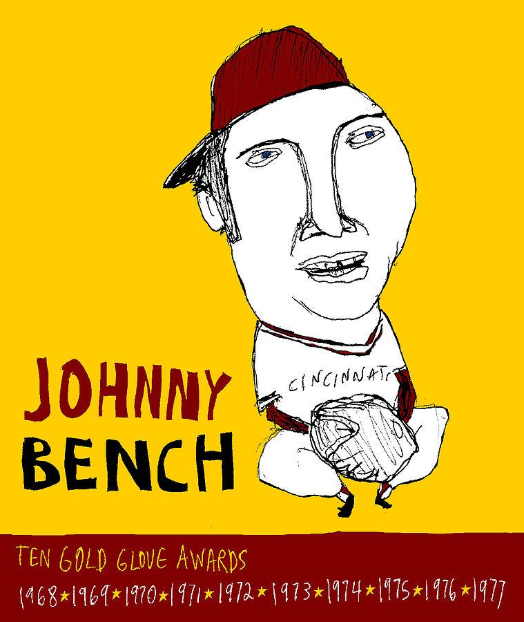 Johnny Bench Cincinnati Reds Painting