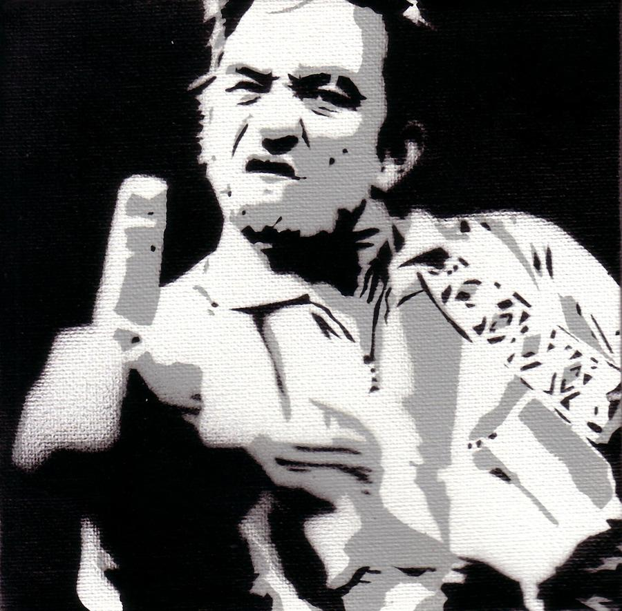 Johnny Cash Famous Fuck You Poster Photograph