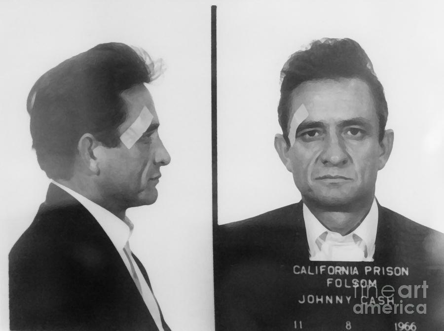 Johnny Cash Folsom Prison Large Canvas Art, Canvas Print, Large Art, Large Wall Decor, Home Decor Mixed Media