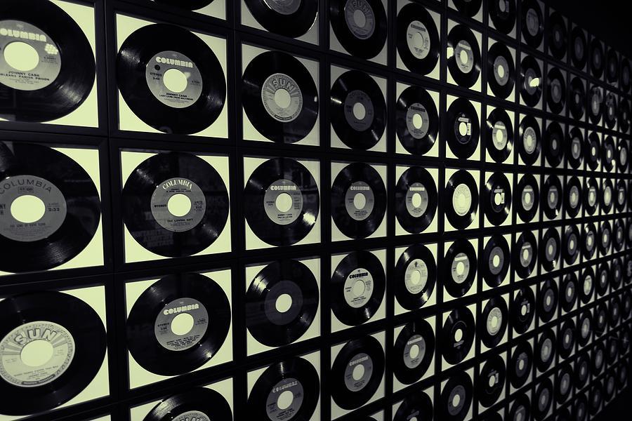 Johnny Cash Vinyl Records Photograph