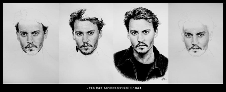 Johnny Depp 4 Drawing  - Johnny Depp 4 Fine Art Print