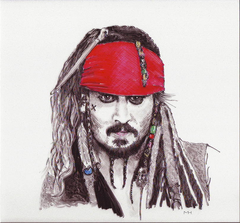 Johnny Depp As Jack Sparrow Drawing