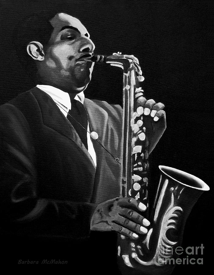 Johnny Hodges Painting by Barbara McMahon