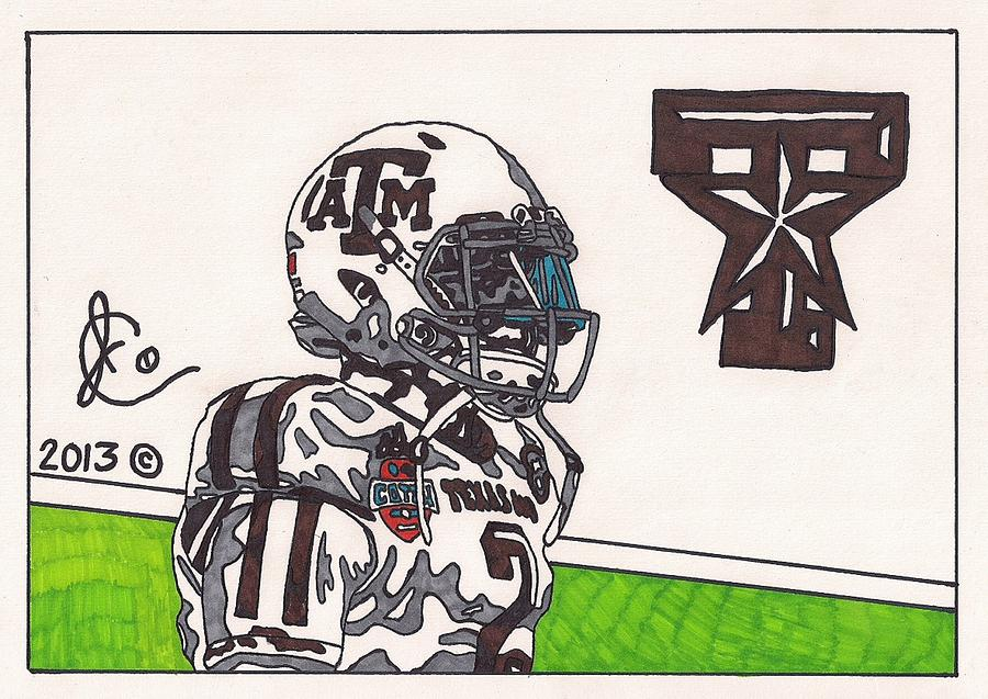 Johnny Manziel 13 Drawing