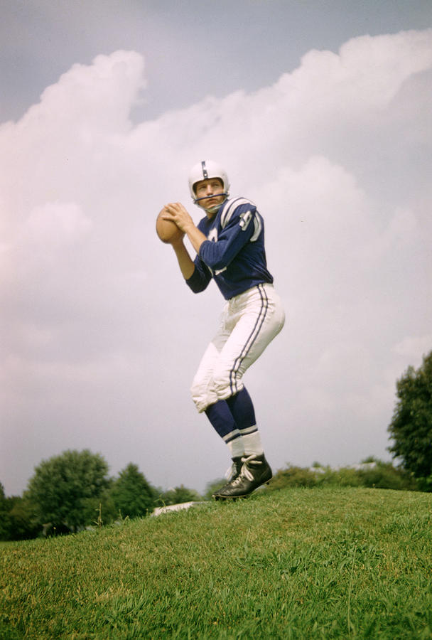 Johnny Unitas Set To Throw Photograph