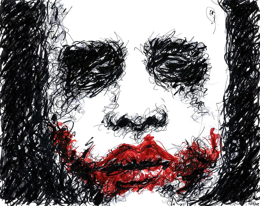 Joker - Black Drawing