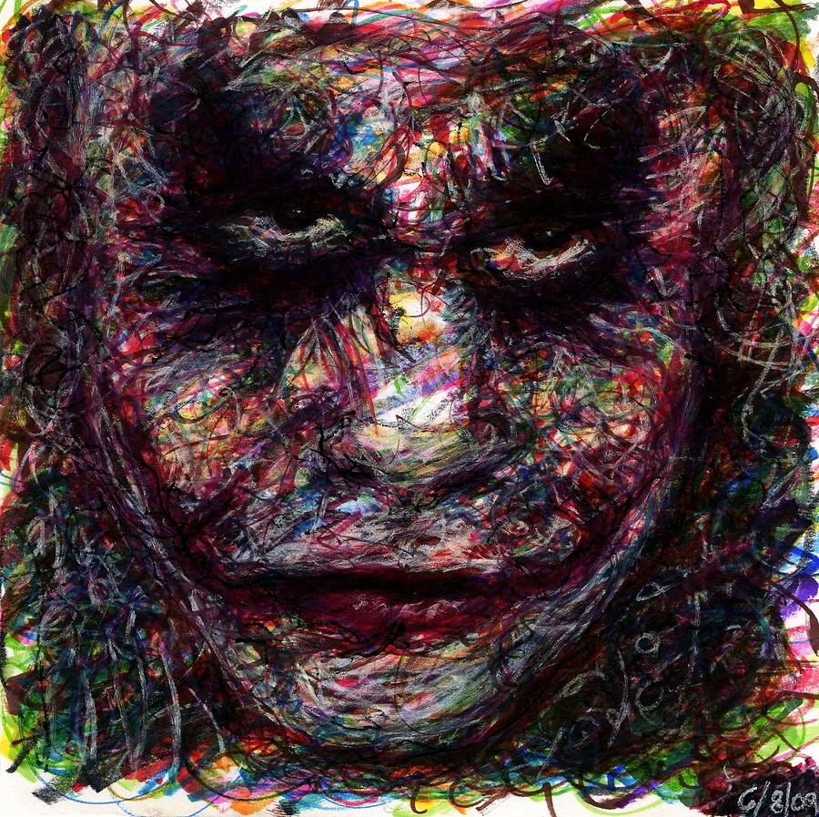Joker - Evening Commissioner Drawing  - Joker - Evening Commissioner Fine Art Print
