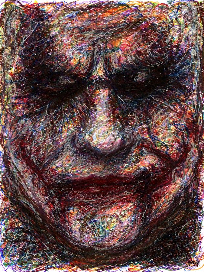 Joker - Face I Drawing  - Joker - Face I Fine Art Print