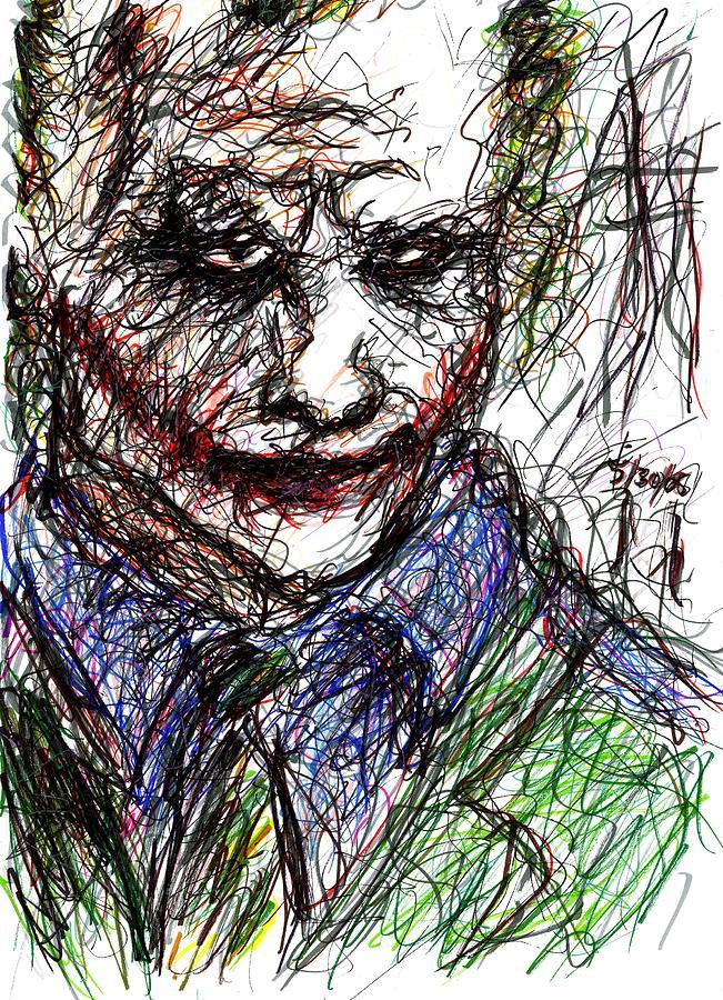 Joker - In Jail Drawing