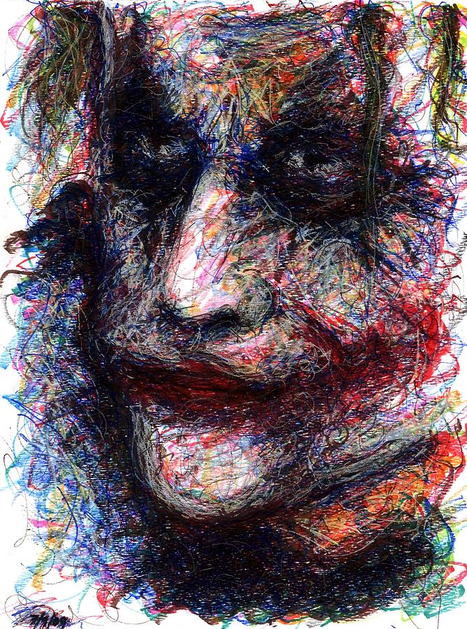 Joker - They Need You Now Drawing  - Joker - They Need You Now Fine Art Print