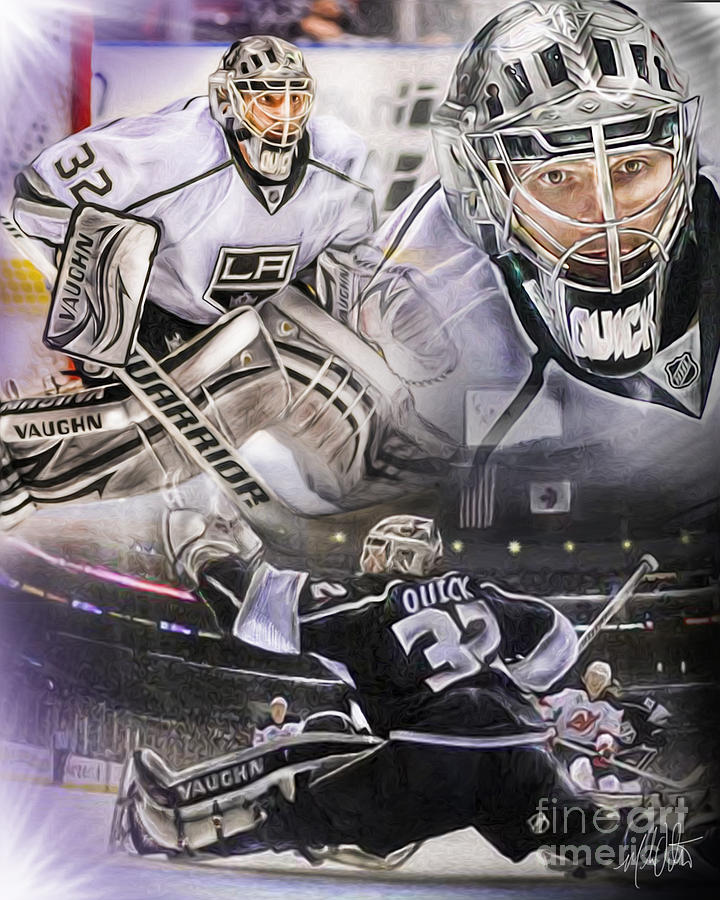Jonathan Quick Collage Painting