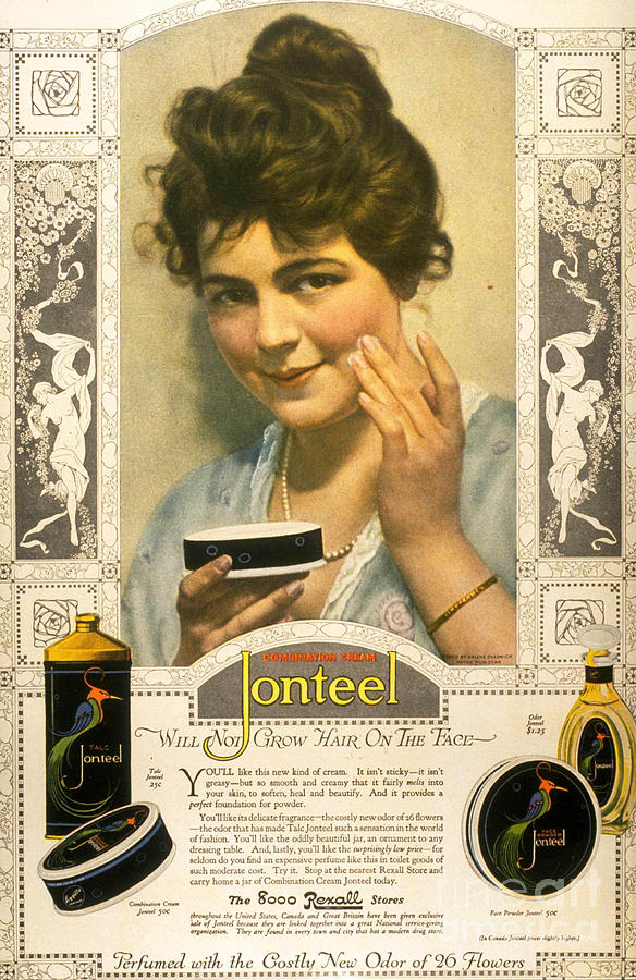 1900Õs Drawing - Jonteel 1900s Usa Face Cream by The Advertising Archives