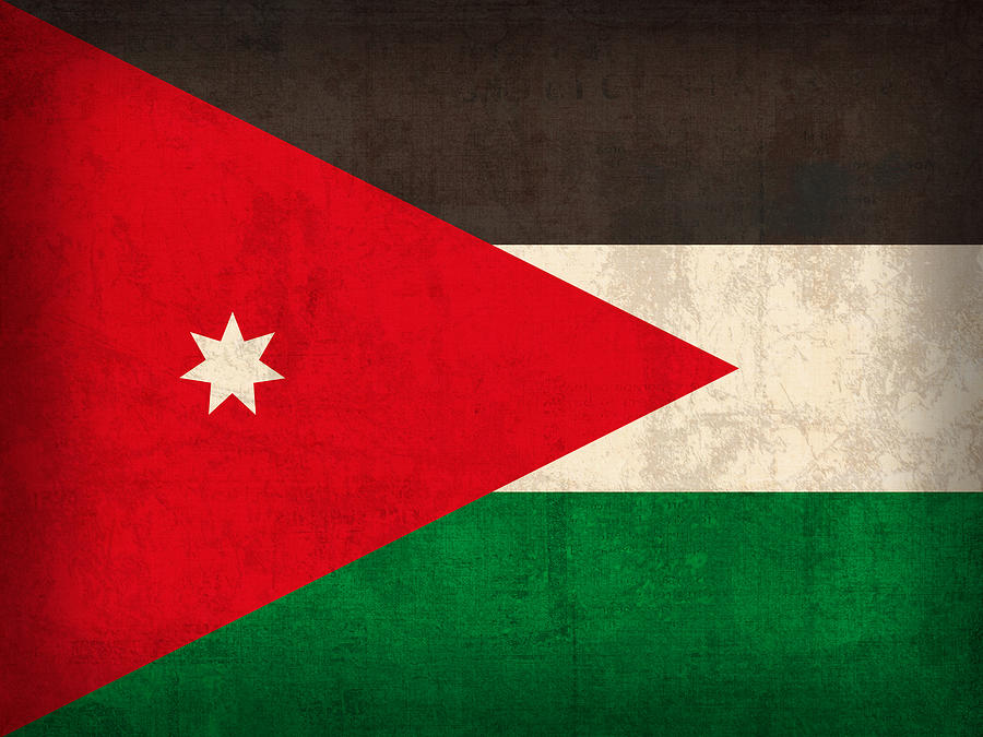 Jordan Flag Vintage Distressed Finish Mixed Media