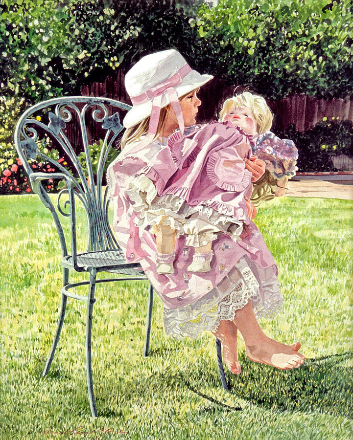 Jordan Foster - Garden Girl Painting