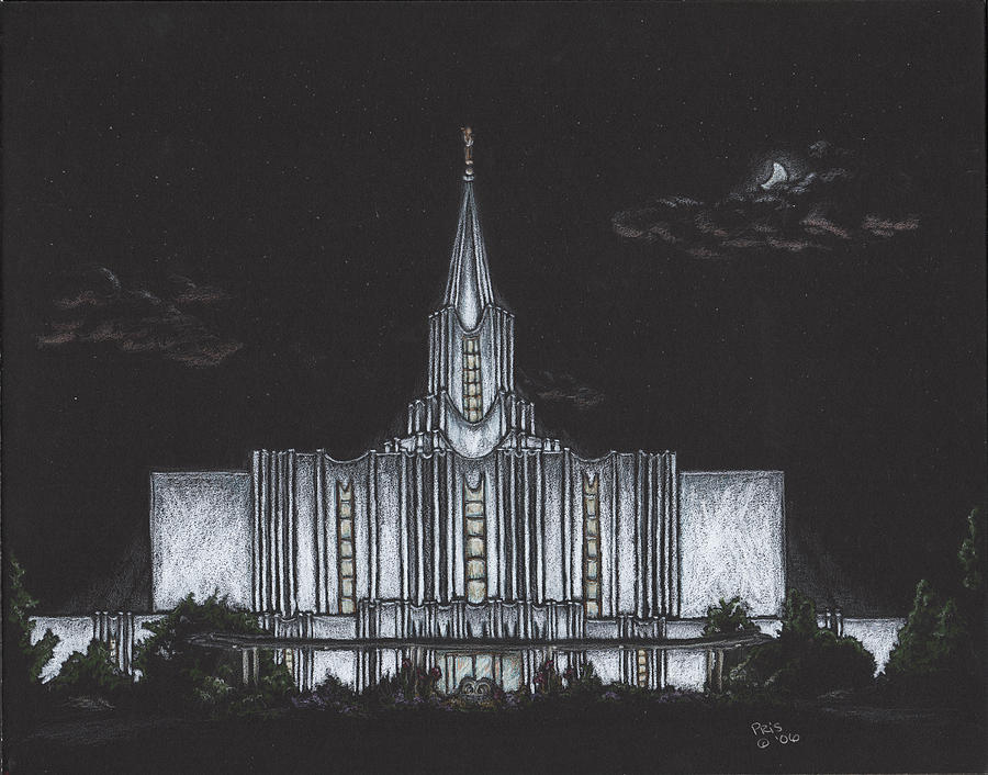 Jordan River Utah Lds Temple Drawing  - Jordan River Utah Lds Temple Fine Art Print