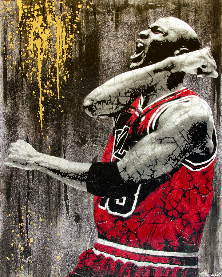 Jordan - The Best There Ever Was Painting  - Jordan - The Best There Ever Was Fine Art Print