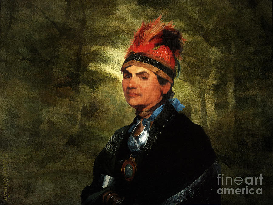 Joseph Brant After Stuart Digital Art  - Joseph Brant After Stuart Fine Art Print
