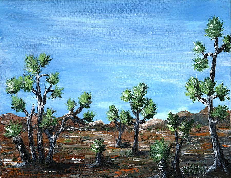 Joshua Trees Painting  - Joshua Trees Fine Art Print
