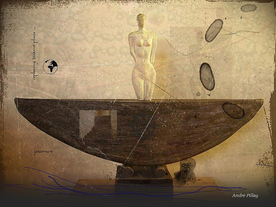 Journey Figure Vessel  Photograph  - Journey Figure Vessel  Fine Art Print