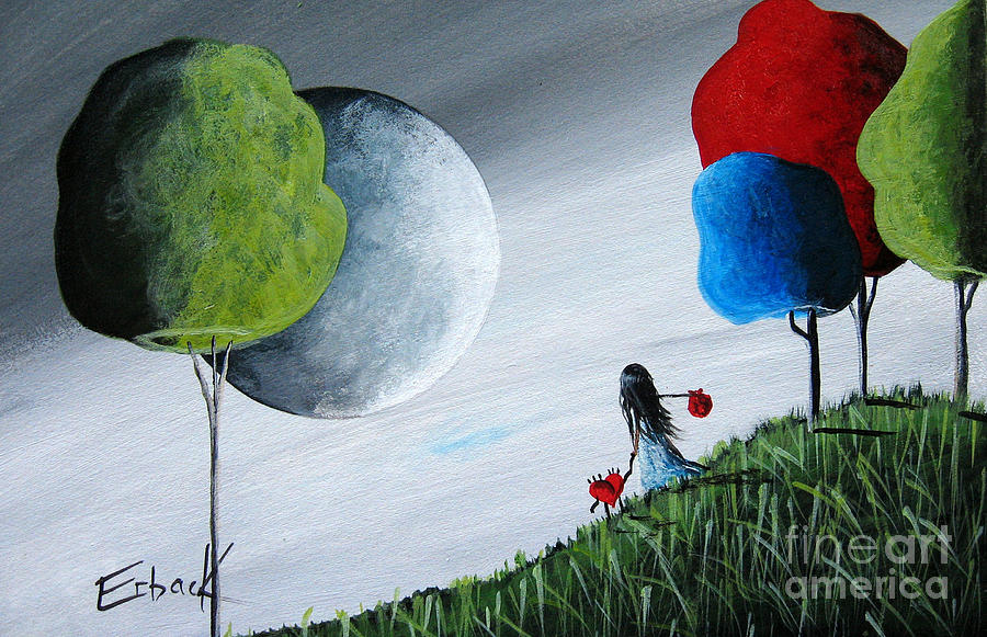 Fairy Tale Painting - Journey Home By Shawna Erback by Shawna Erback