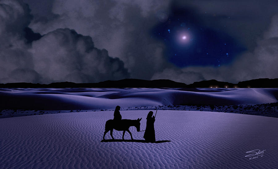 Journey To Bethlehem Digital Art