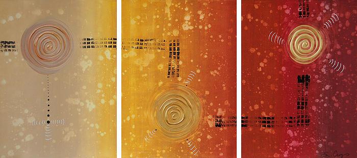 Journey To Zen - Earth Tone Yellow Burnt Orange Art Painting Painting