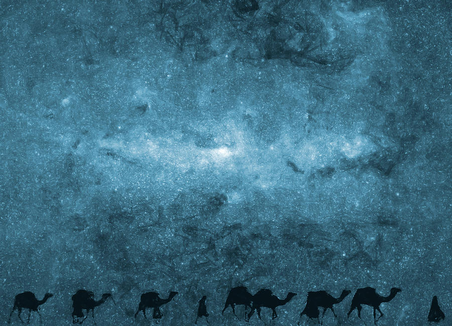 Journey Under The Milky Way  Digital Art  - Journey Under The Milky Way  Fine Art Print