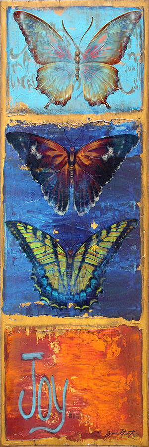 Joy Butterflies Painting  - Joy Butterflies Fine Art Print