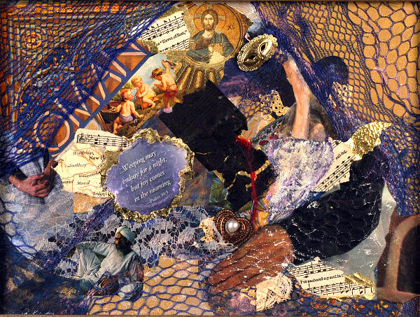 Collage Mixed Media - Joy In The Morning by Gail Kirtz