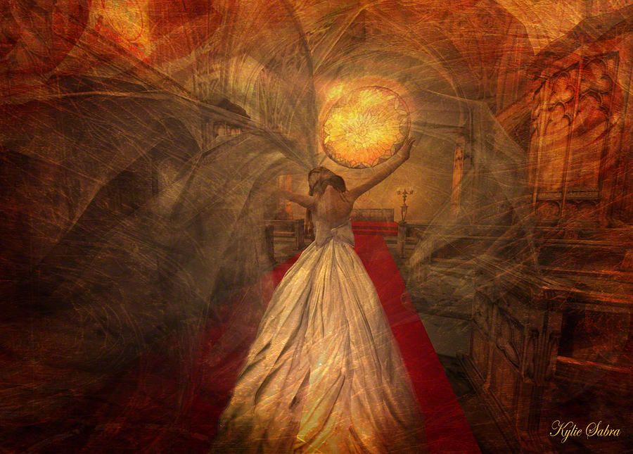 Joyous Bride Digital Art  - Joyous Bride Fine Art Print