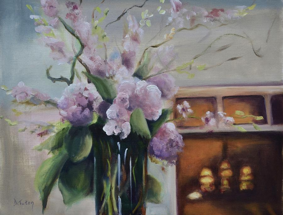 Flower Arrangement Painting - Joyous Occasion by Donna Tuten