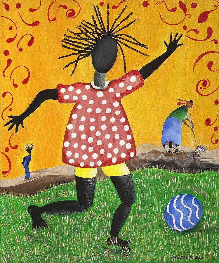 Black Art Painting - Joys Promise by Patricia Sabree