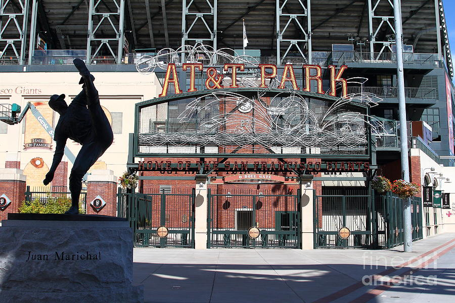 Juan Marichal At San Francisco Att Park . 7d7640 Photograph  - Juan Marichal At San Francisco Att Park . 7d7640 Fine Art Print