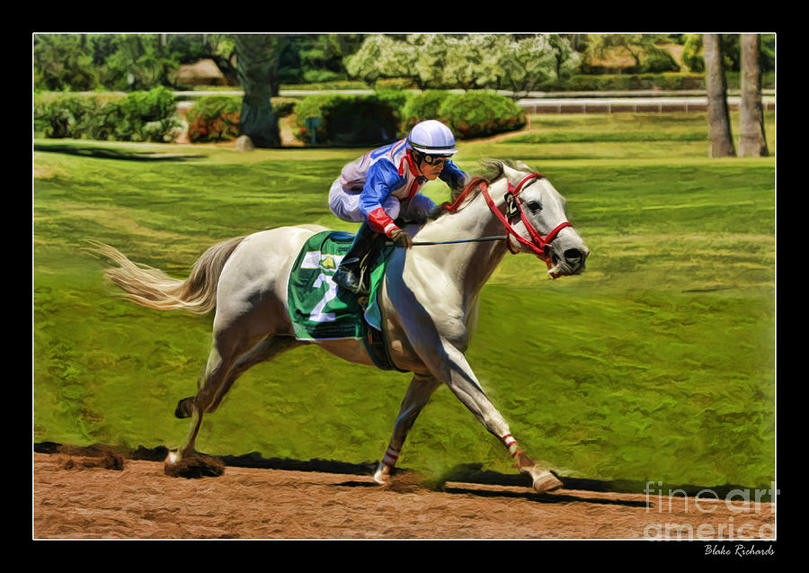 Juan Sanchez On Horse Sammy V  Photograph  - Juan Sanchez On Horse Sammy V  Fine Art Print