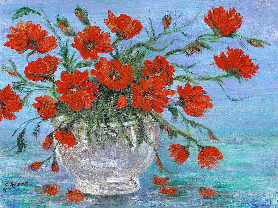 Jubilee Poppies Painting  - Jubilee Poppies Fine Art Print