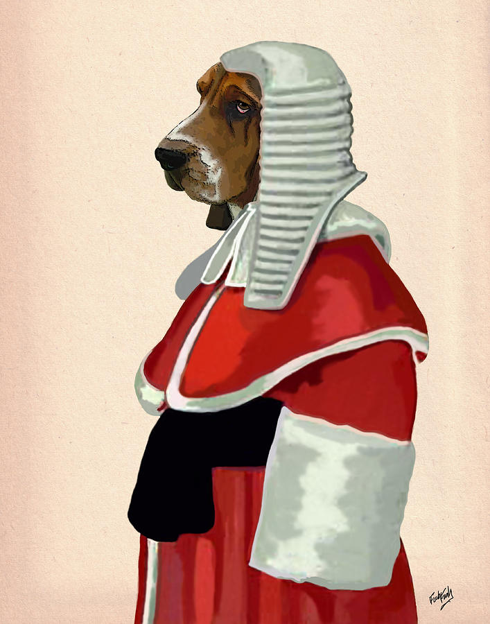 Judge Dog Portrait Digital Art
