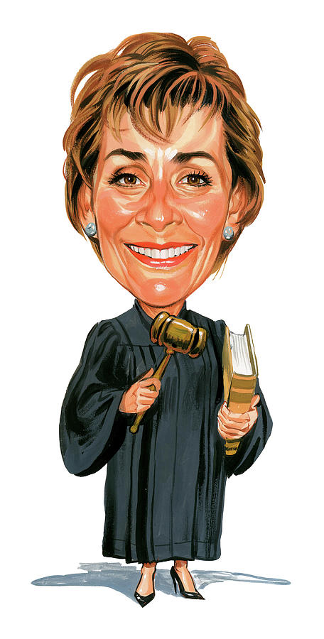 Judith Sheindlin As Judge Judy Painting  - Judith Sheindlin As Judge Judy Fine Art Print