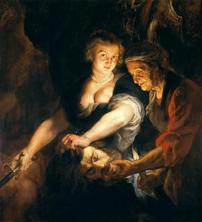 Judith With The Head Of Holofernes Painting by Peter Paul ...